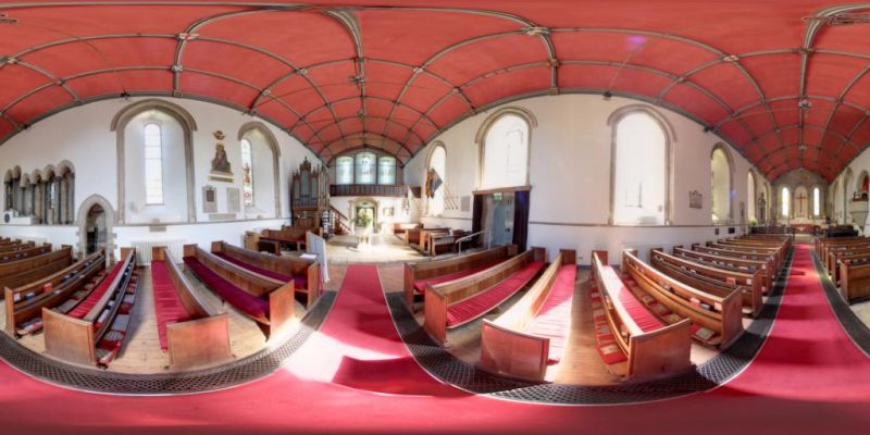 Abbey Interior Panorama